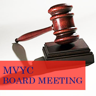 MVYC board meeting - gavel