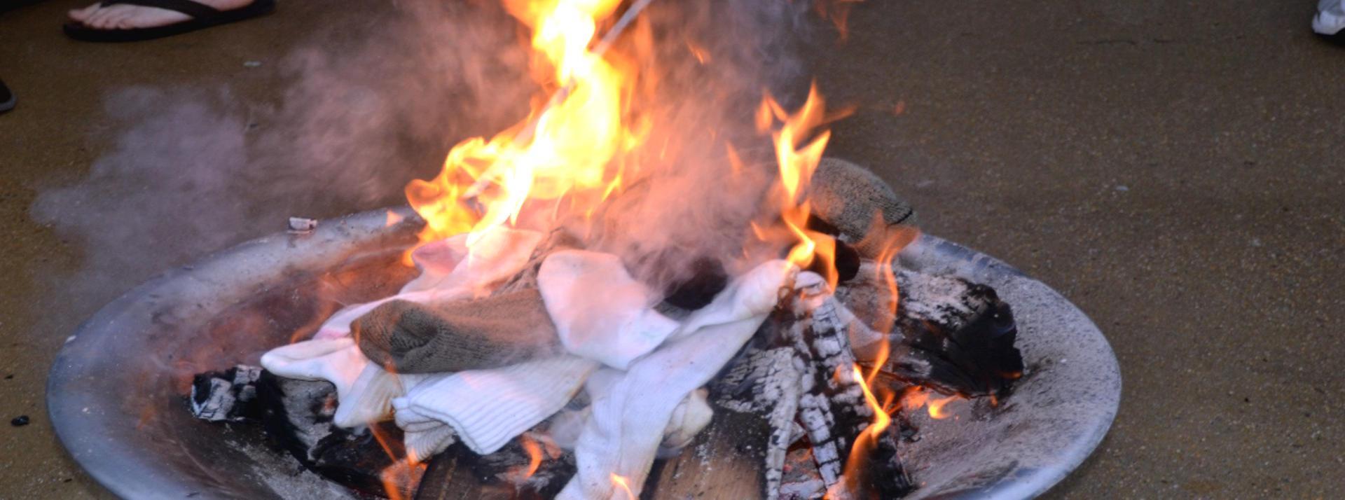 Annual Sock Burning